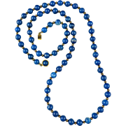 Beautiful Blue Sodalite Necklace 30""