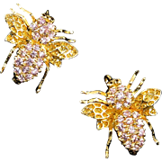 Bug Pins in 18K Vermeil with Sparkling Rhinestones