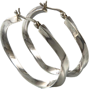 Big Twisted Puffy Hoop Earrings