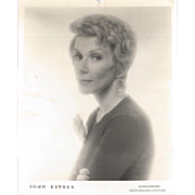 Desirable and Rare Early Joan Rivers Head Shot Photograph