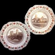 Pair London & North Eastern Railways Wedgwood Dessert Plates