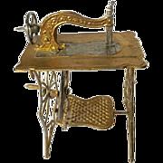 Metal Gilded Sewing Machine