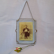 Lovely Victorian Picture Frame~ with Photo Of Young Boy~ dated 1892
