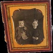 Antique Daguerreotype of Two Young Children