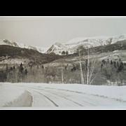 SOLD Photograph Of Mt. Washington, Pinkham Notch, N.H. Shorey Studio, Dated 1934