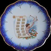 SOLD Antique Advertising  Porcelain Calendar Plate 1915, San Antonio, Texas