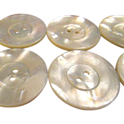 SOLD Lot of 8 Vintage Mother of Pearl Buttons