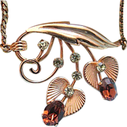 SALE (Free Shipping)   Mid Century Van Dell Gold Filled Necklace