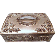 GODINGER Silver-Plated Floral Mirrored Victorian Style Jewelry Box