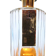 Vintage Octagonal Crystal Bottle Eau De Lanvin Arpège 85° Paris France ~ 40% Full
