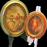SALE Vintage European Victorian Era Framed Prints Made in Italy