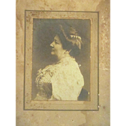 Vintage Large Cabinet Card Photograph of Victorian Woman in Profile - Early 1900s