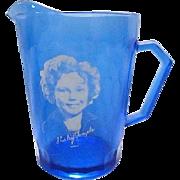Vintage Shirley Temple Atlas Glass Creamer Pitcher - 1930s