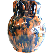 Four Handled Vase by North Carolina Potter Billy Hussey