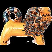 """Southern Pottery """"Medusa"""" Lion Figural by North Carolina Potter Billy Hussey"""
