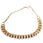 "SALE Sarah Coventry  ""Tricia"" necklace Gold tone 1972"