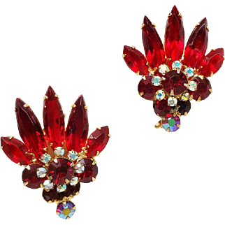 Confirmed Juliana Ruby Red Earrings