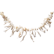 "Vintage Angel Skin Branch Coral 20.5"" Necklace"