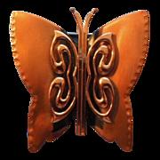Renoir Butterfly  Cooper brooch
