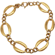 Chunky 1980's Ann Klein Gold Tone Necklace