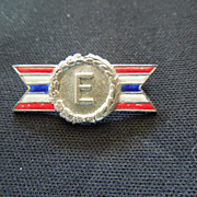 SALE Sterling and Enamel pin ARMY-NAVY Production AWARD