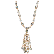 SALE PENDING Beautiful Fringe Austrian Crystal necklace.