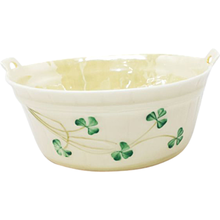 Belleek Shamrock Wash tub #0857 4.5""