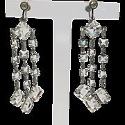 Edwardian Chandelier Crystal Earrings