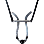 Wonderful Modernist Reindeer pendant necklace