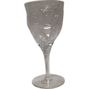 Stunning Seneca Orleans Crystal Wine Goblet