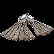 Set (12) 1847 Rogers Bros. Assyrian Head Demitasse Spoons