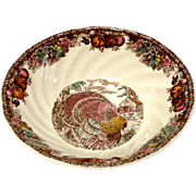 Johnson Bros. Autumn Monarch Pattern Cereal Bowl, Turkey