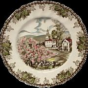 "Johnson Bros. Friendly Village ""The Village Green"" Large Dinner Plate"