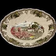 "Johnson Bros. Friendly Village ""The Village Green"" Oval Vegetable Bowl"