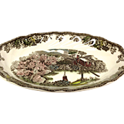 """Johnson Bros. Vintage Friendly Village """"The Well"""" Relish or Gravy Stand"""