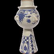 "Bjorn Wiinblad Blue & White ""Dyveke"" Four Part Vase Base"