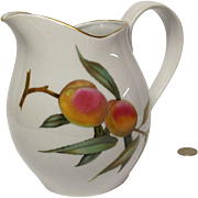 Royal Worcester Evesham Gold Water Pitcher