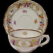 Schumann Empress Dresden Flowers Cup & Saucer Set