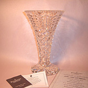 """Waterford Crystal """"Master Cutter"""" Tall Vase with Box and COA"""