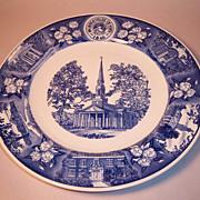 Wedgwood MacMurray College for Women 1956 Centennial Plate