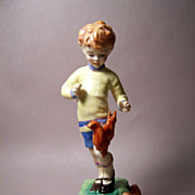 """Royal Worcester """"OCTOBER"""", Boy with Squirrels Figurine"""