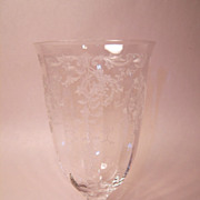 SOLD Fostoria Navarre Clear 10oz Footed Tumbler