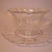 SOLD Fostoria Navarre Clear Mayonnaise and Underplate
