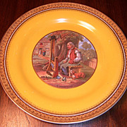 "Prattware, ""Il Penseroso""  Plate, F. & R. Pratt & Co."