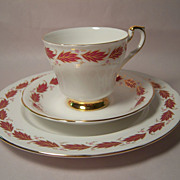 Paragon China ELEGANCE Trio: Cup, Saucer, Plate