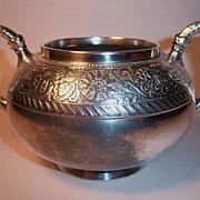 Rare Assyrian Head Meriden Britannia Waste Bowl