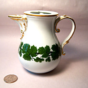 REDUCED Meissen Full Green Vine Small Coffee Pot, No Lid