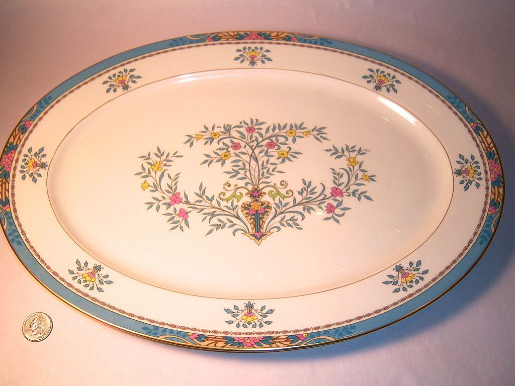 Lenox Blue Tree Large Serving Platter