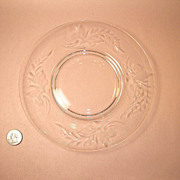 Stunning Tiffin Fernwood Crystal Luncheon Plate