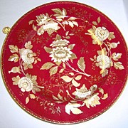 Rare Wedgwood Tonquin Ruby Chop Plate